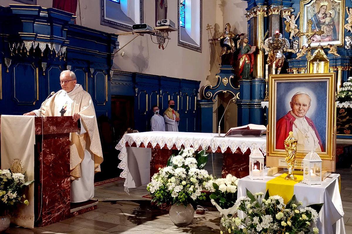 Obraz i relikwie Św. Jana Pawła II w Lisiej Górze