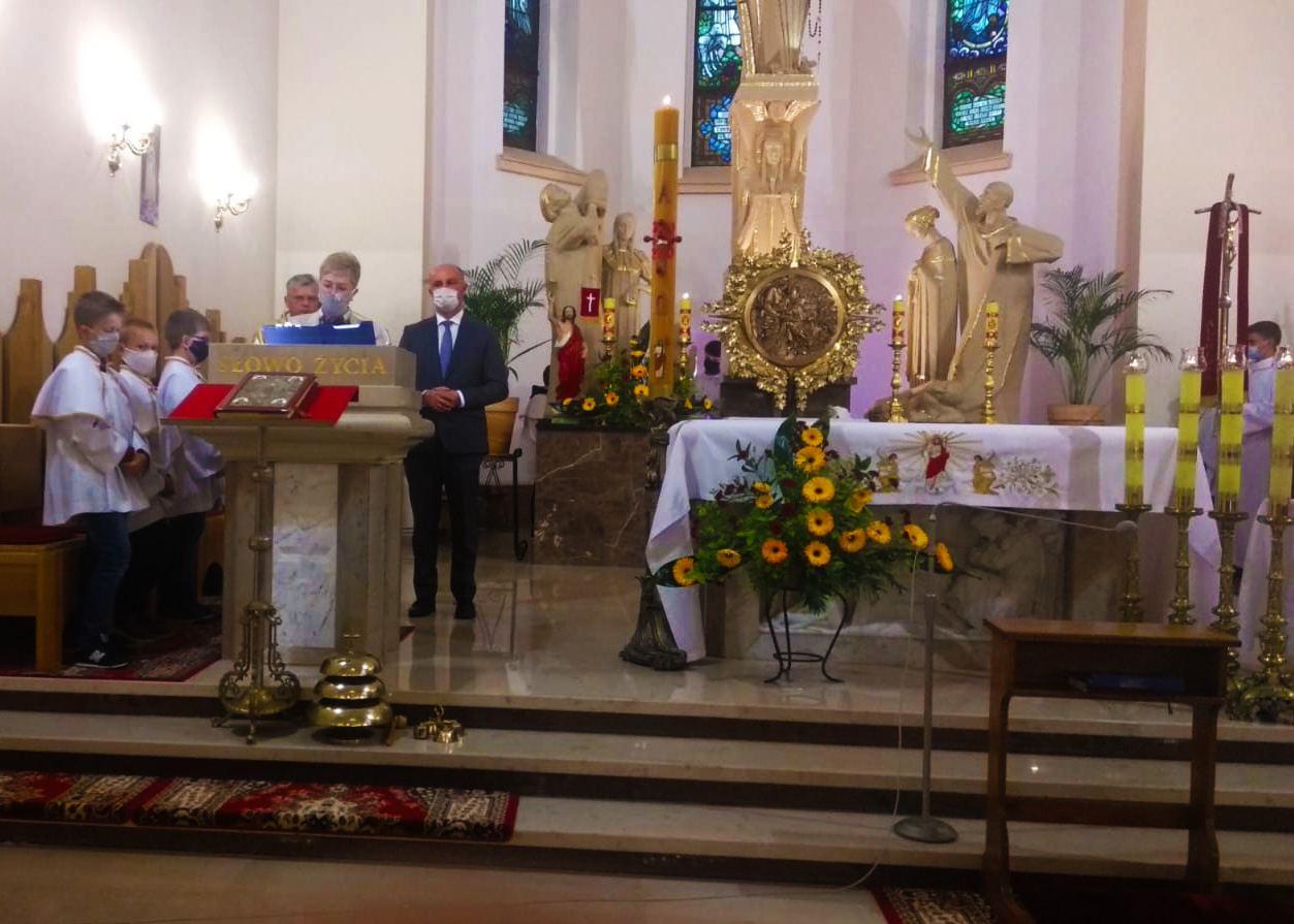 Relikwie i obraz Św. Jana Pawła II w Straszęcinie