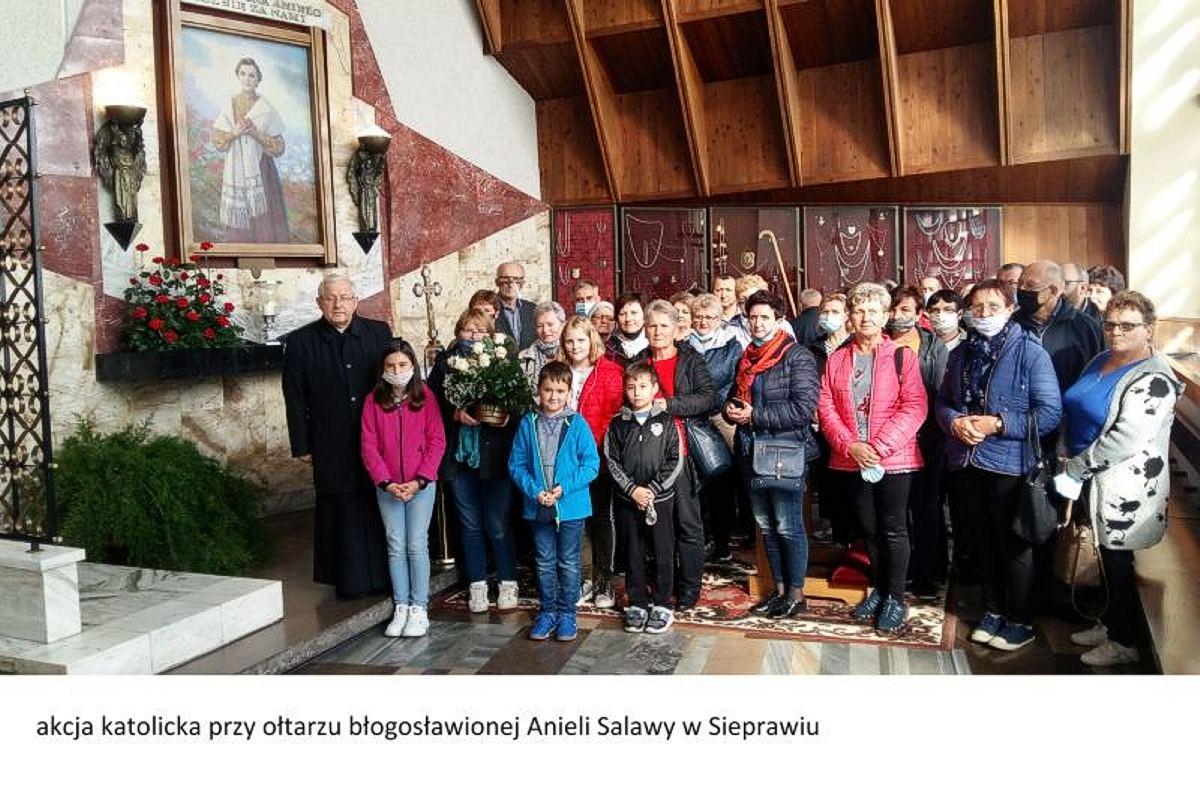 Pielgrzymka członków AK śladami Św. Jana Pawła II